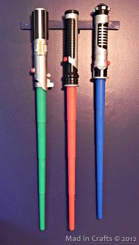 space geek bedroom light sabers