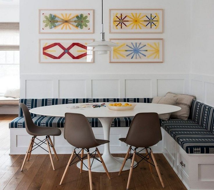 Kitchen Table With Built In Bench best 25+ oval table ideas only on pinterest   oval kitchen table