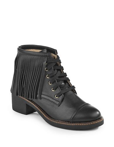 Chaussures   Bottes   Bottillon Cutler en cuir à franges   La Baie D'Hudson