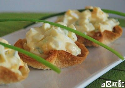 Mini cestas de huevo y cebollino - L'Exquisit