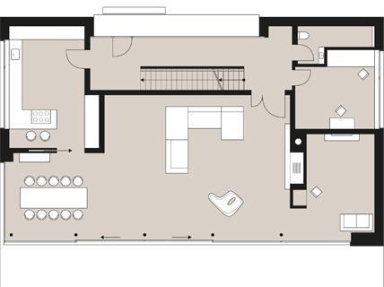 Flachdachhaus mit durchdachtem Raumkonzept: Planmaterial: Zum Garten geöffneter Quader – Day Kreativität