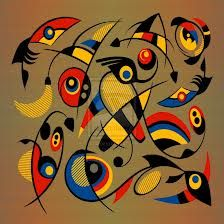 Joan Miro. ONE OF MY ALL TIME FAVORITE ARTISTS. I saw some of his works and sketches in person and it was breath taking.