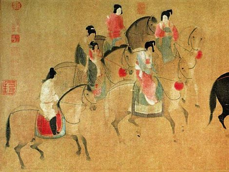 chinese painting court - Google Search