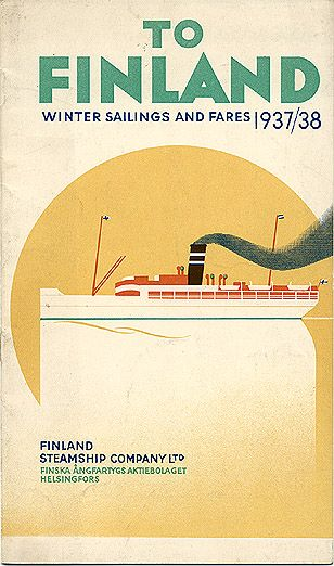 To Finland - Winter Sailings and Fares 1937/38.