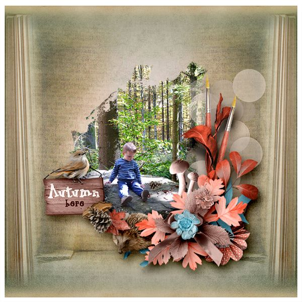 New Kit *Autumnal Road* by Lily Fee http://digital-crea.fr/shop/index.php…