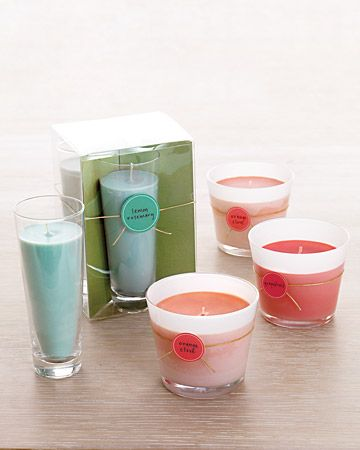 Make your own soy candles, with labels: Diy Crafts, Gifts Ideas, Votive Candles, Handmade Gifts, Martha Stewart, Pillar Candles, Soy Votive, Soy Candles, Scented Soy