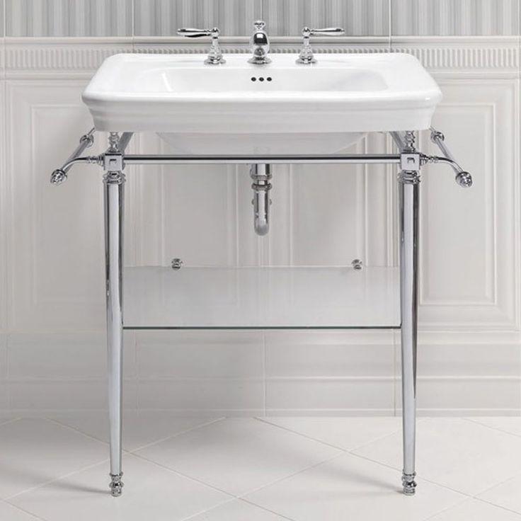 Traditional Metal Pipe Bathroom Vanity Basin Stand Pipe