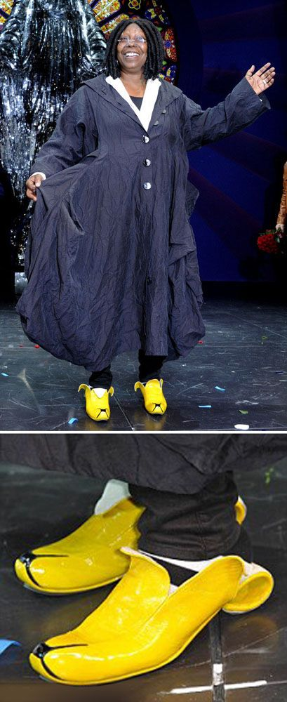 Whoopi Goldberg rocking the Banana Slip-on shoes by Kobi Levi