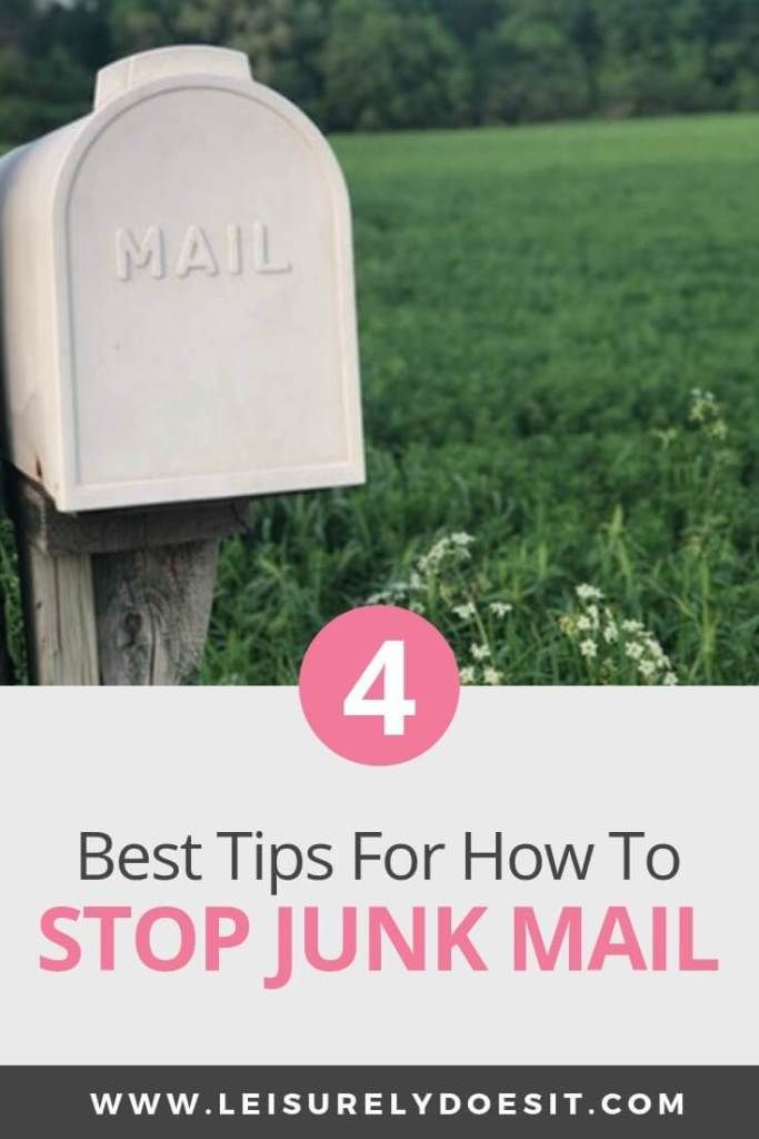 4 Best Tips For How To Stop Receiving Junk Mail | Declutter