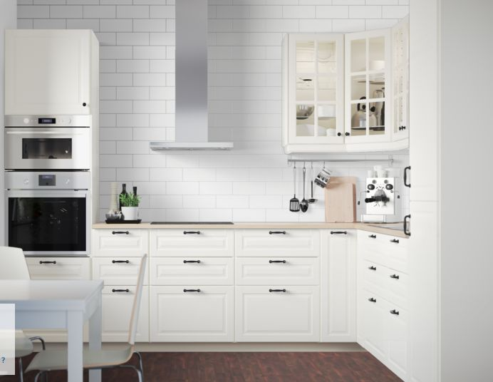 Ikea bodbyn kitchen pinterest kitchens and ikea for Are white kitchen cabinets still in style
