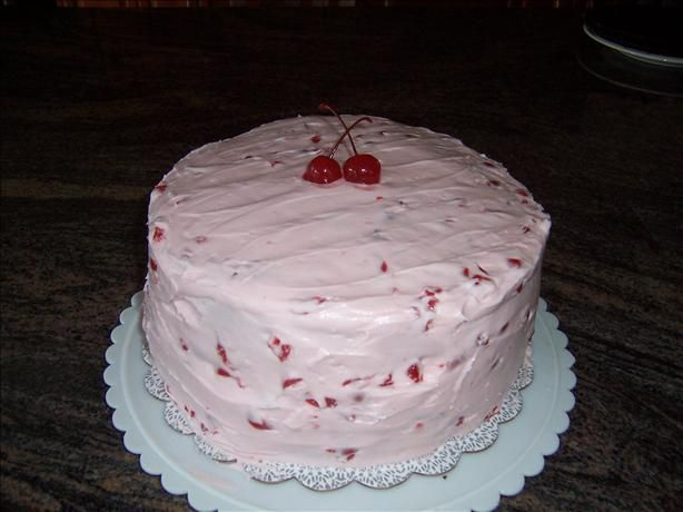 Birthday Cake Icing Recipes Easy: Maraschino Cherry Icing