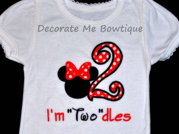 Minnie Mouse TWOdles Birthday Shirt by Decoratemebowtique on Etsy