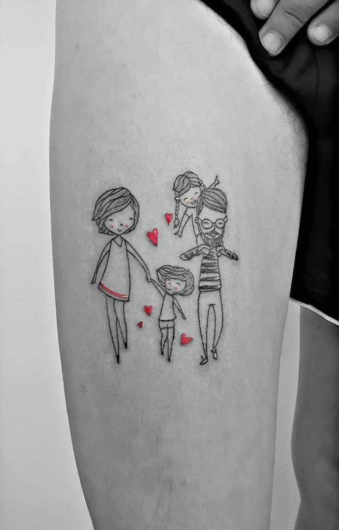 Family Tattoo: 90 Options to Record All Your Love –  – #smalltattoos