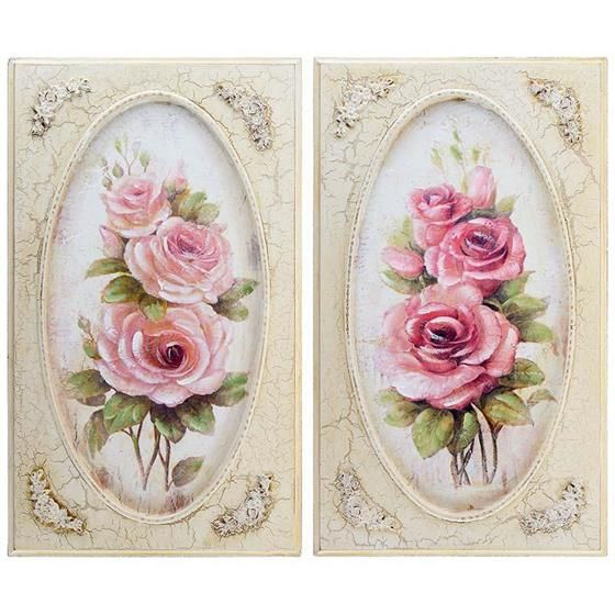 wall painting with pink roses #romantic #floral www.inart.com
