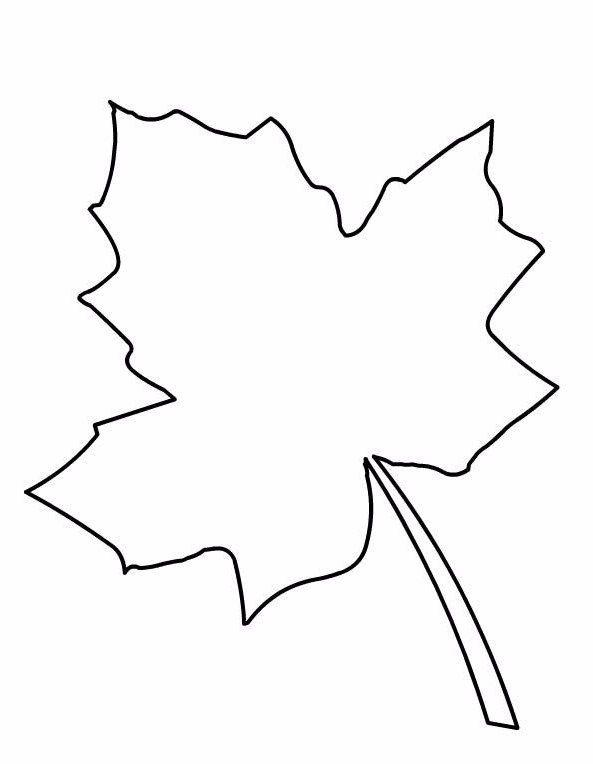 шаблон кленового листа картинки