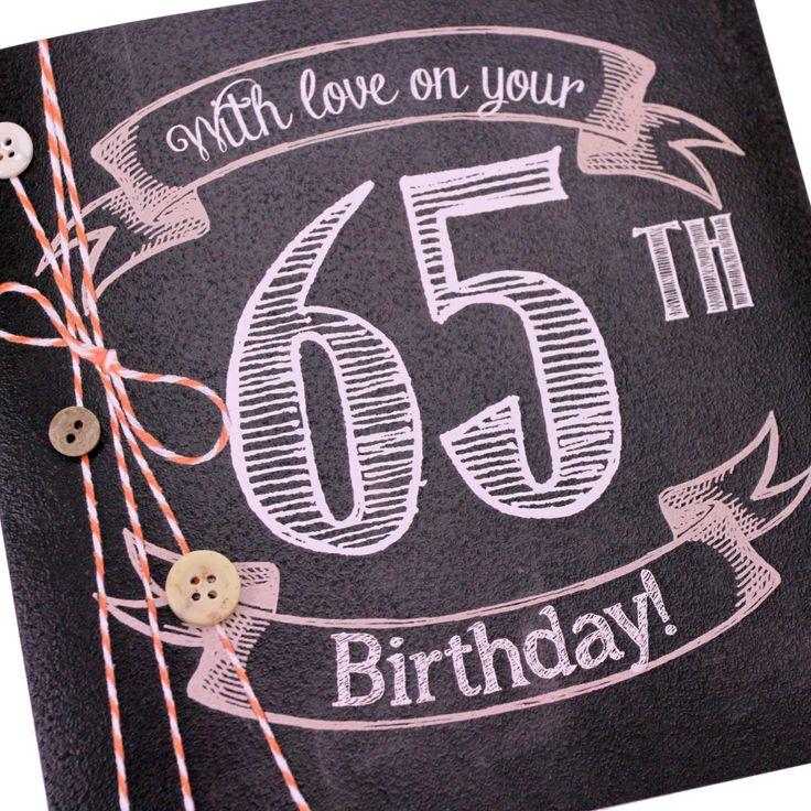 53 best 65th images – Mum 65th Birthday Card