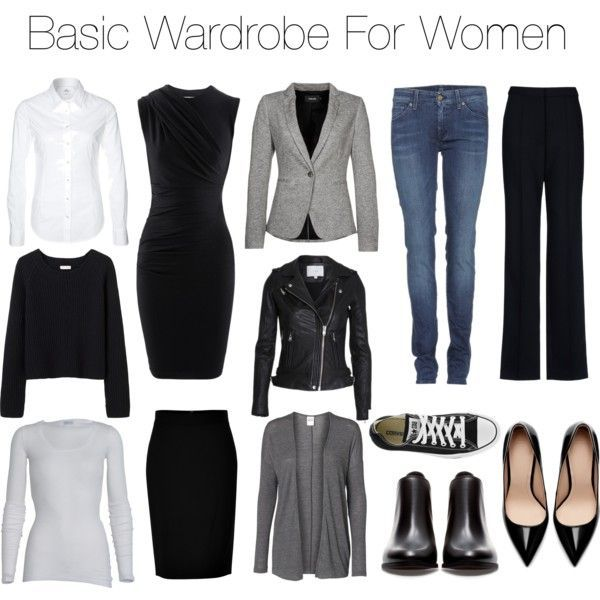 Basic Wardrobe For Women = easier capsule wardrobe and closet = easier life and lifestyle :)