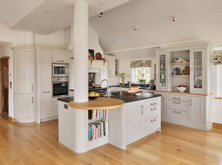 breakfast bar designs   Kitchen storage solution: cookbooks   Beautiful Kitchens Blog