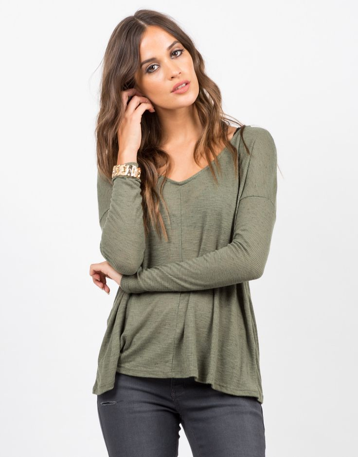 Get with the flow and grab this Long Sleeve V-Neck Shirt. This top features a v-neckline, fitted sleeves, flowy fit. The material is lightweight, slightly sheer, and stretchy. The perfect layering ess