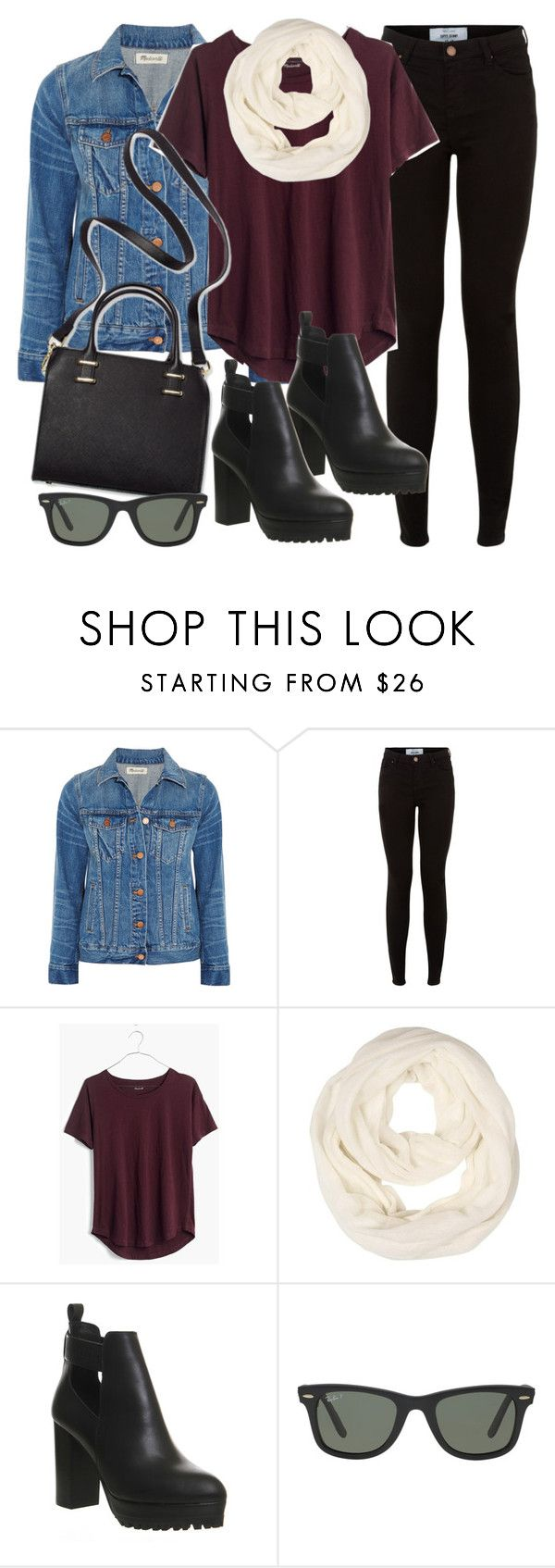 """""""Style #11083"""" by vany-alvarado ❤ liked on Polyvore featuring Madewell, New Look, Office, Humble Chic and Ray-Ban"""