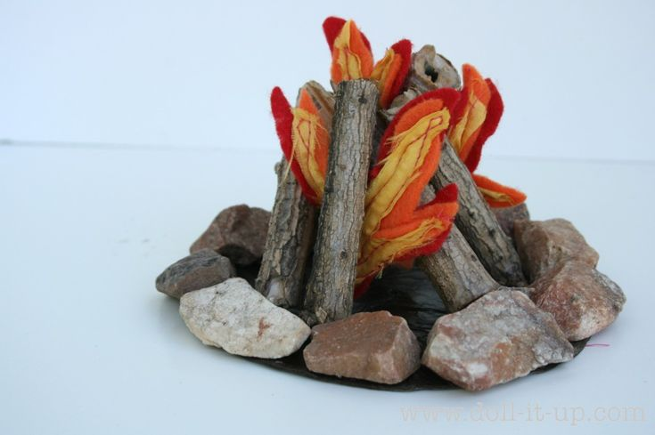 Make a camp fire with a cd and a few extra goodies