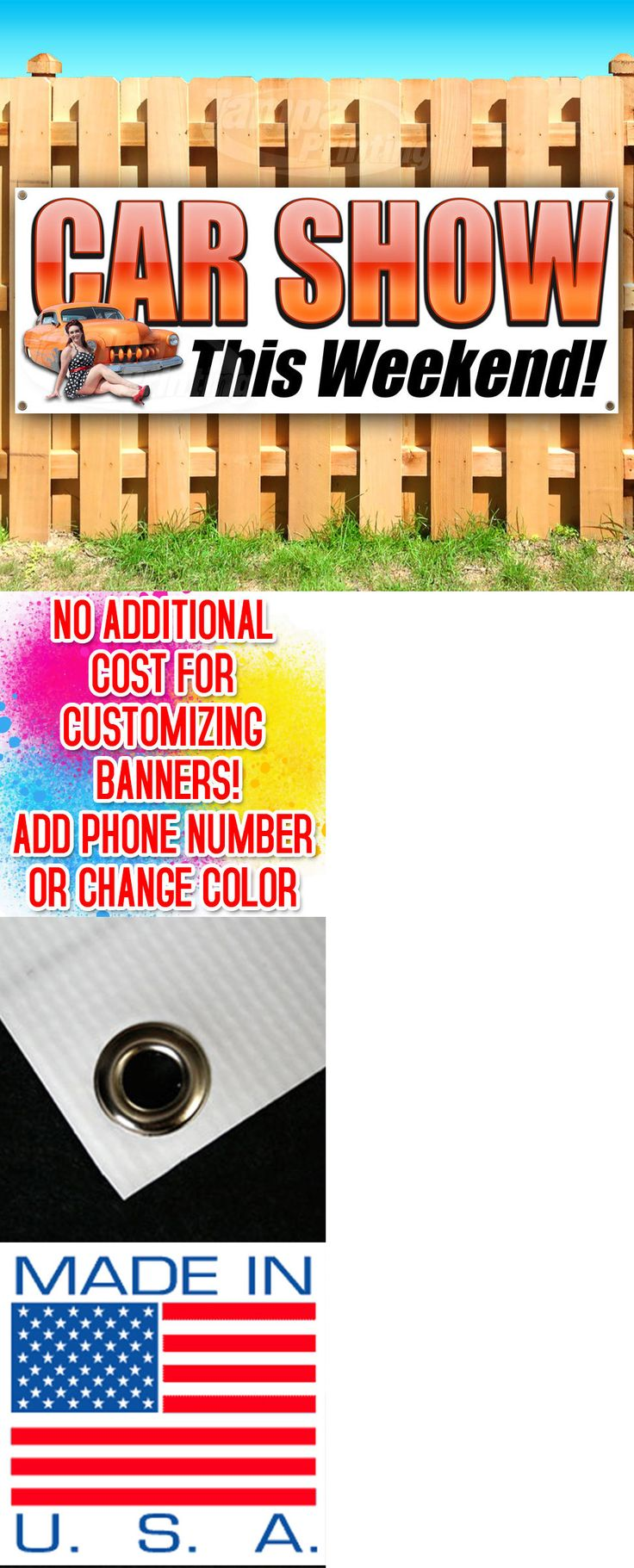Other Crafts 75576: Car Show This Weekend Advertising Vinyl Banner Flag Sign Many Sizes Usa -> BUY IT NOW ONLY: $31.49 on eBay!