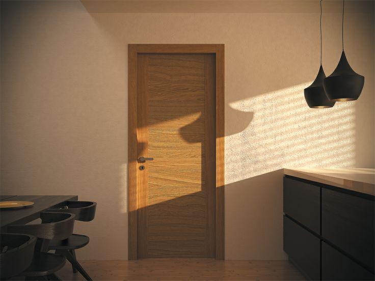 FBP porte | Collezione LAURA Art.301  Essenza: rovere - Colore: strutturato effetto grezzo naturale #fbp #porte #legno #door #wood