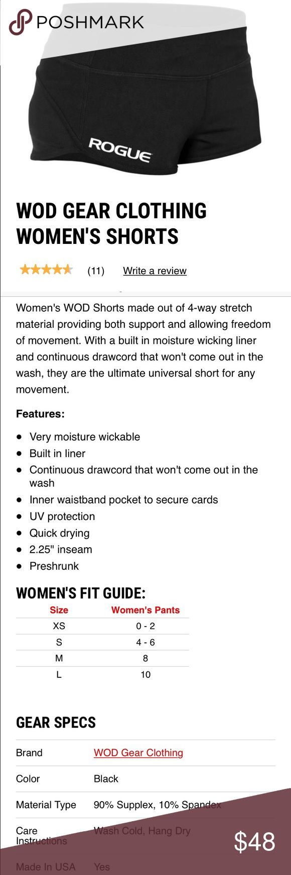 Rogue WOD Gear - CrossFit Women's Shorts, Size S Brand new, never been washed or worn. NWOT, make a reasonable offer! Rogue Shorts