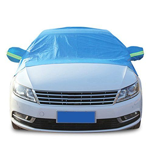 Windshield Cover Snow Freeze Prevention Half-Body Car Dustproof Snowproof with Reflective Strip Exterior Care (Blue). For product info go to:  https://www.caraccessoriesonlinemarket.com/windshield-cover-snow-freeze-prevention-half-body-car-dustproof-snowproof-with-reflective-strip-exterior-care-blue/
