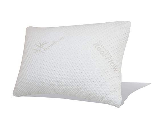 Snuggle Pedic Original Ultra Luxury Bamboo Shredded Memory Foam Combination Pillow With Best Breathable Kool Flow Hypoallerg Bed Pillows Pillows Healthy Pillow
