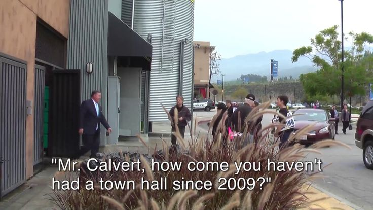 Congressman Ken Calvert Flees, Narrowly Escapes Constituents Again