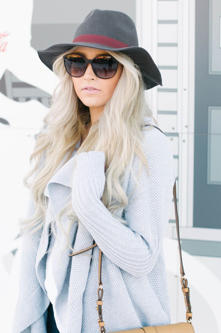 cozy sweaters and hats