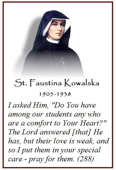 st faustina quote diary 1400 | Feast Day: St. Faustina Kowalska: