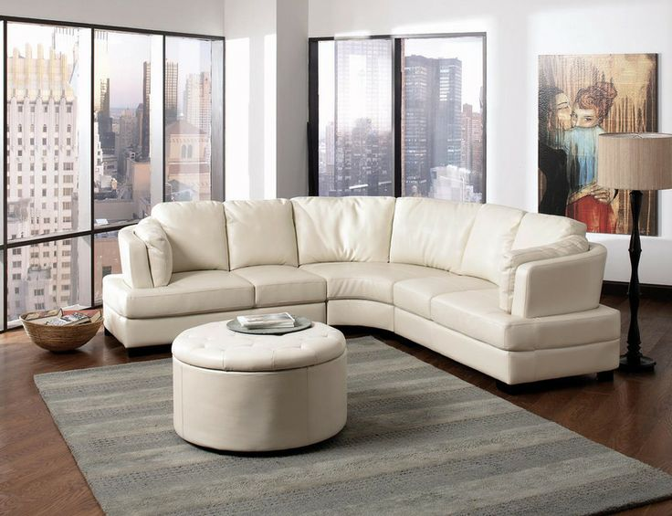 Coaster Cream Leather Sectional Sofa Set Corner Couch Modern Living