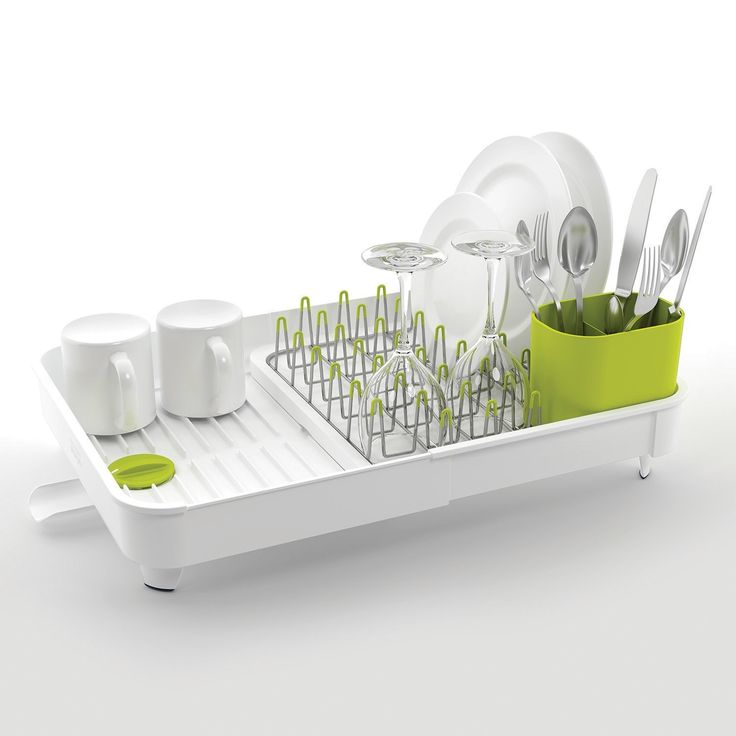 Joseph Joseph Extend Expandable Dish Rack with Draining Plug, White