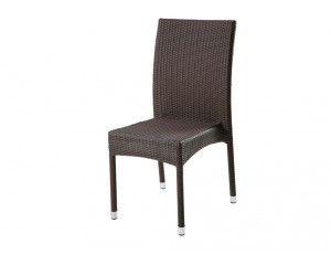 Adriatico sedia Jepara intrecciata - Sedia impilabile intrecciata a mano in polietilene estruso, materiale simile alla fibra naturale.  Colori disponibili: avorio, marrone.