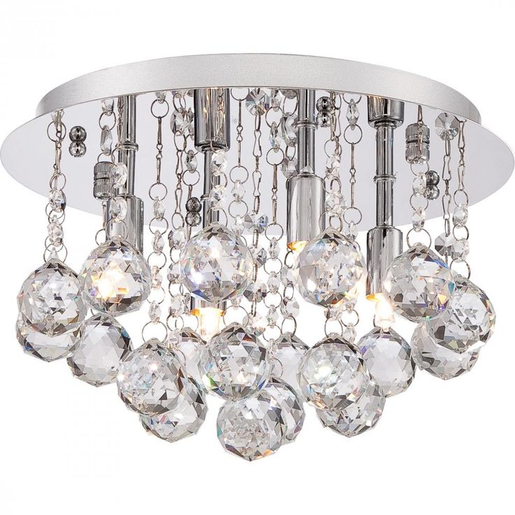 With sparkling crystals and a sleek polished chrome finish the bordeaux flush mounts add that
