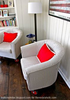 How To Reupholster A Tub Chair | Thatu0027s My Letter On Remodelaholic.com