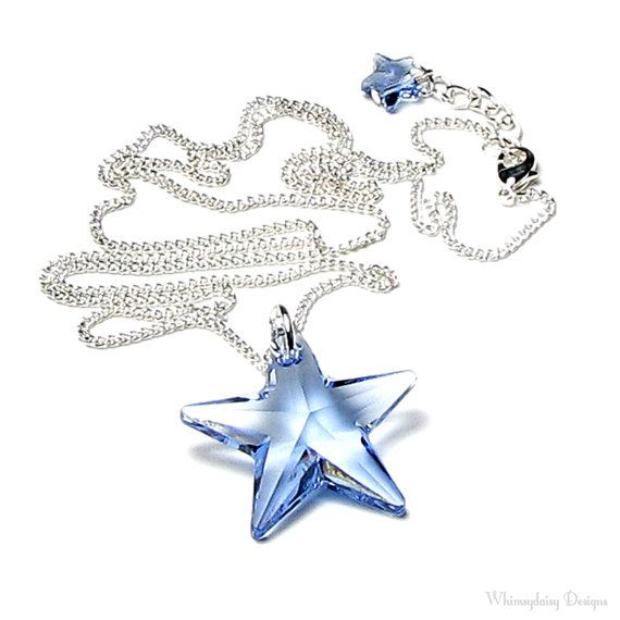 24 best images about jewely on pinterest crystal star necklace light sapphire blue swarovski crystal star silver pendant necklace sky blue crystal star jewelry star pendant aloadofball Gallery