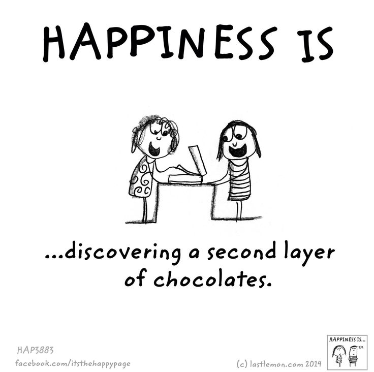 Happiness is... Discoverig a second layer of chocolates