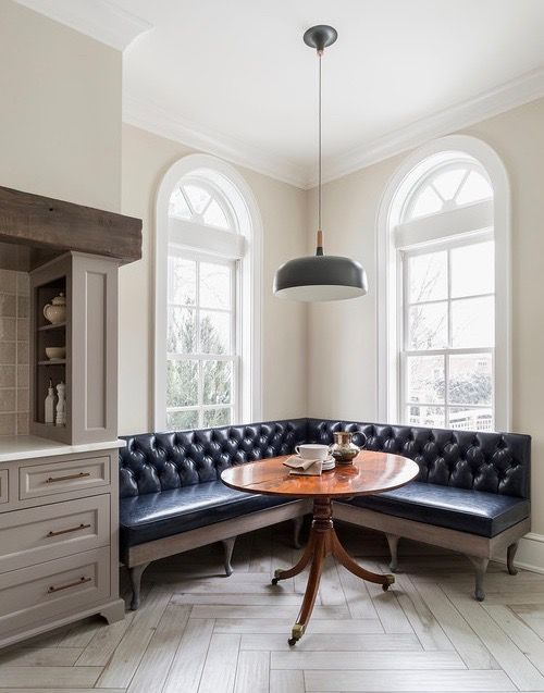 25 best ideas about dining room banquette on pinterest for Dinette area ideas