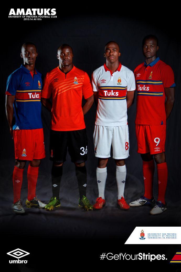 Mpho Maruping, Washington Arubi, Mpho Matsi & Lucky Mathosi in their new AmaTuks Jerseys