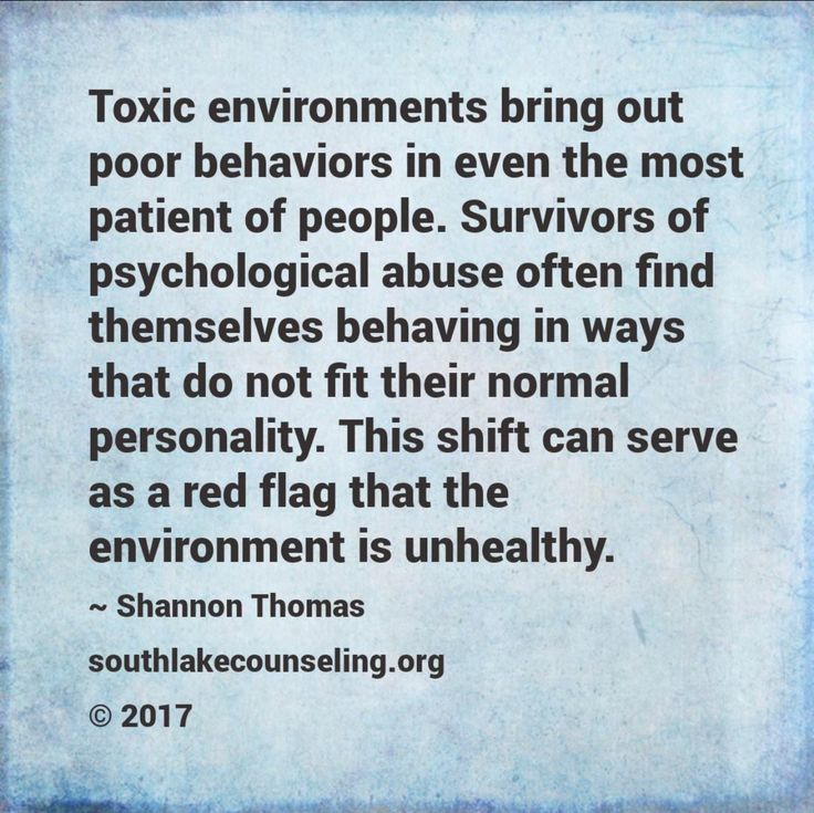 If you find that you do not feel like your healthy happy self in a negative toxic enviornment, heed this as a warning to remove yourself from this place asap.