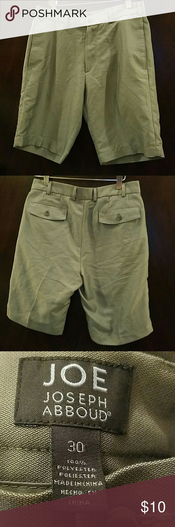 Joe by Joseph Abboud Men's Dress Shorts, 30 Super soft dress shorts by Joe: Joseph Abboud. Gray with Taupe Undertones. Bought for my son and he couldn't fit them but didn't tell me until he removed the tags and stuffed the in back of his closet for months. JOE Joseph Abboud Shorts