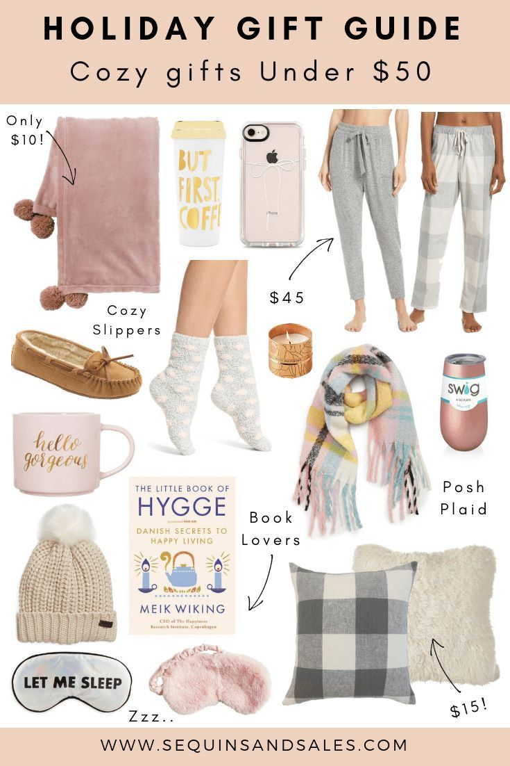 Holiday Gift Guide Cozy Gifts Under 50 Birthday gifts
