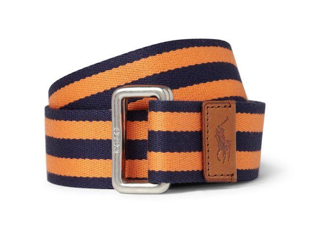 Men's Belt #8 – Ralph Lauren Striped Cotton Twill Belt This Striped Cotton  Twill Belt