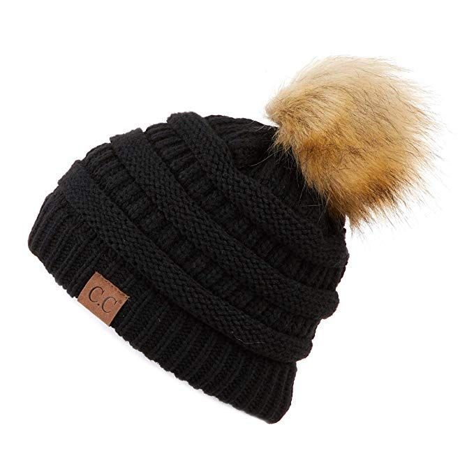 acfeb3c7 Hatsandscarf CC Exclusives Unisex Ombre Ribbed Confetti Knit Beanie with  POM (HAT-43)
