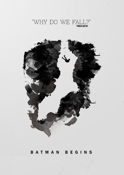 Batman Begins (2005) ~ Minimal Movie Poster by Barry McGovern