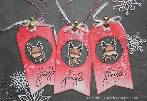 Nichol Spohr Magouirk: Handmade Holiday 2015   Reindeer Games Spinner Tags + Giveaway