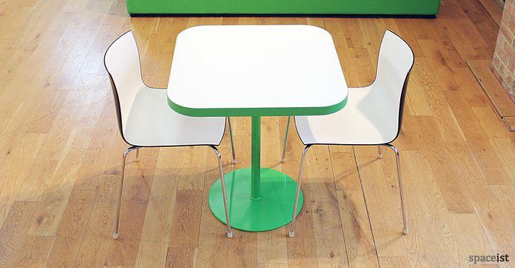 Edge square green designer canteen table.